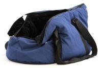 Taška na psy od BOBBY z měkkého a příjemného materiálu vhodná pro štěňata, jorkšíry, čivavy apod. Nosnost 5 kg, barva modrá (7).