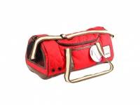 Prostorná prošívaná taška na psa ve sportovním stylu