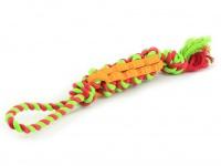 Jednoduchá dentální hračka pro psy vyrobená z kombinace provazových a gumových materiálů (3)