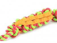Jednoduchá dentální hračka pro psy vyrobená z kombinace provazových a gumových materiálů (4)