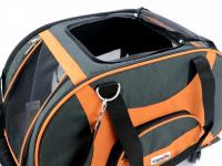 Prostorná transportní taška na psy CAMON s odnímatelnými kolečky a výsuvným madlem. Nosnost 13 kg, lze nosit samostatně, rozměry 53 × 31 × 31 cm. (18)