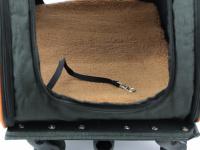 Prostorná transportní taška na psy CAMON s odnímatelnými kolečky a výsuvným madlem. Nosnost 13 kg, lze nosit samostatně, rozměry 53 × 31 × 31 cm. (19)