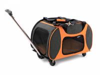 Prostorná transportní taška na psy CAMON s odnímatelnými kolečky a výsuvným madlem. Nosnost 13 kg, lze nosit samostatně, rozměry 53 × 31 × 31 cm. (2)