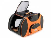 Prostorná transportní taška na psy CAMON s odnímatelnými kolečky a výsuvným madlem. Nosnost 13 kg, lze nosit samostatně, rozměry 53 × 31 × 31 cm. (4)