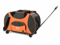 Prostorná transportní taška na psy CAMON s odnímatelnými kolečky a výsuvným madlem. Nosnost 13 kg, lze nosit samostatně, rozměry 53 × 31 × 31 cm. (5)