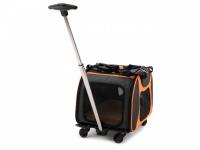 Prostorná transportní taška na psy CAMON s odnímatelnými kolečky a výsuvným madlem. Nosnost 13 kg, lze nosit samostatně, rozměry 53 × 31 × 31 cm. (7)