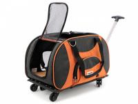 Prostorná transportní taška na psy CAMON s odnímatelnými kolečky a výsuvným madlem. Nosnost 13 kg, lze nosit samostatně, rozměry 53 × 31 × 31 cm. (8)