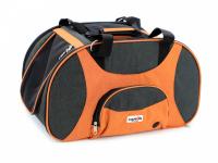 Prostorná transportní taška na psy CAMON s odnímatelnými kolečky a výsuvným madlem. Nosnost 13 kg, lze nosit samostatně, rozměry 53 × 31 × 31 cm. (9)