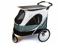 Upravovací stolek určený na velký kočárek pro psy PetStro SKYLINE. Jednoduché nasazení, bezpečné zajištění, protiskluzový strukturovaný povrch.