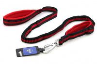 Odpružené vodítko pro velké psy s amortizérem od ROKVEL. Délka 1,2 m, úchop pro normální i zkrácené vedení, výběr barev. (6)
