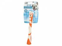 Žvýkací hračka pro psy pro zábavnou dentální hygienu – dentální tyčinka AFP Dental ze speciálně tvarované gumy s výstupky. Výběr barev, velikost 17 cm. (4)