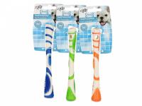 Žvýkací hračka pro psy pro zábavnou dentální hygienu – dentální tyčinka AFP Dental ze speciálně tvarované gumy s výstupky. Výběr barev, velikost 17 cm.