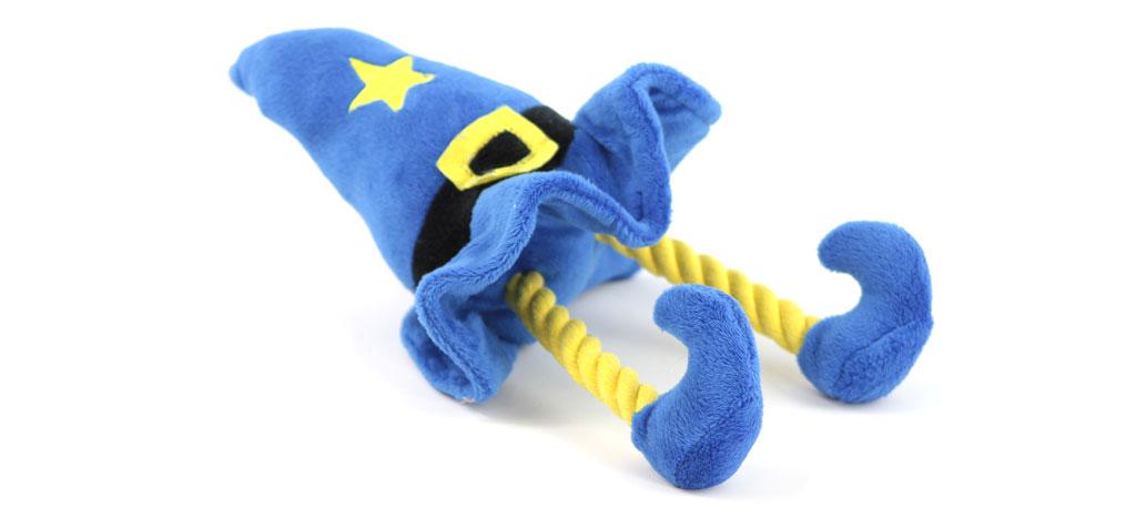 Pískací hračka pro psy od ROSEWOOD – plyšový kouzelnický klobouk