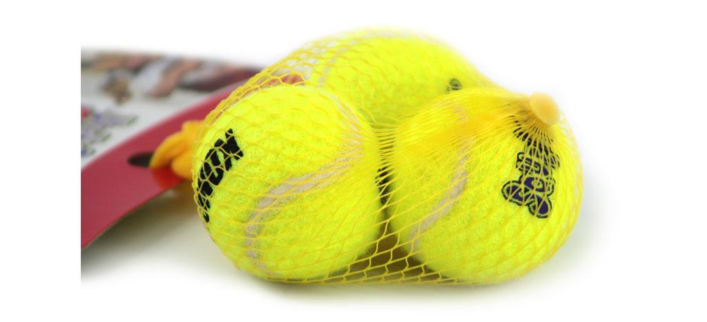 Míčky pro psy vhodné pro malá a TOY plemena s povrchem jako klasický tenisový míček