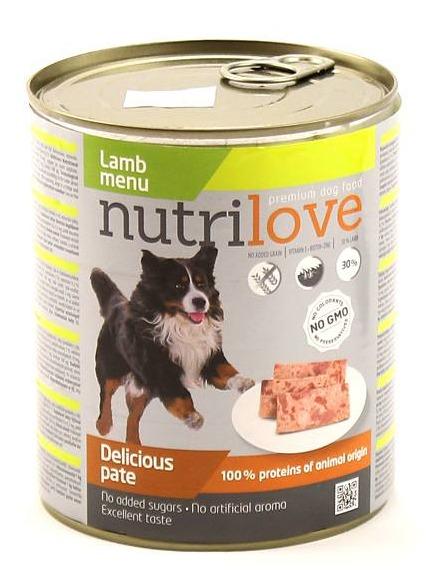 Nutrilove paté – kompletní krmivo pro psy