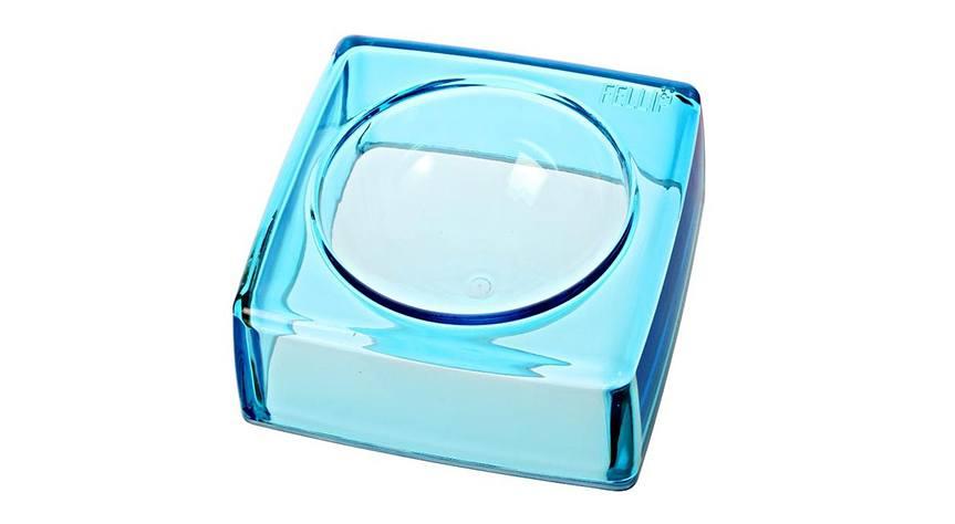 Luxusní hranatá miska pro psy, modrá