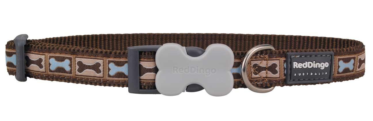 Obojek pro psa RED DINGO – Bone Yard Brown