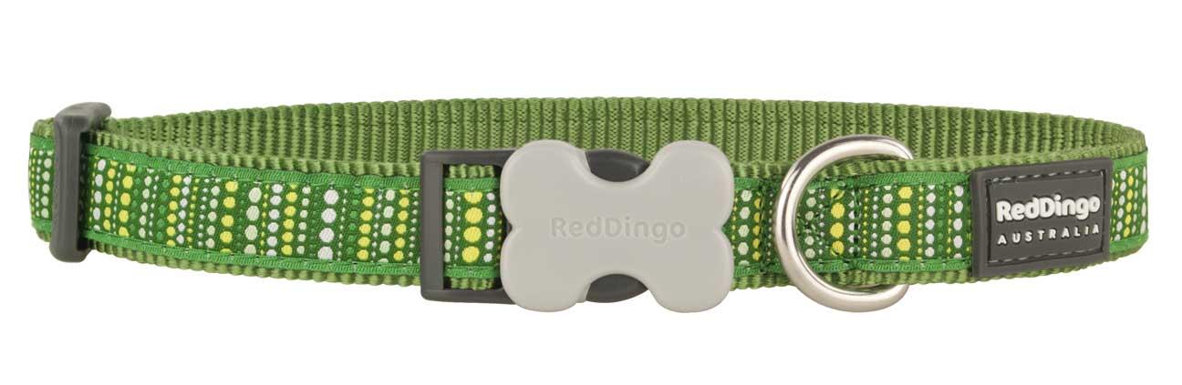 Obojek pro psa RED DINGO – Lotzadotz Green