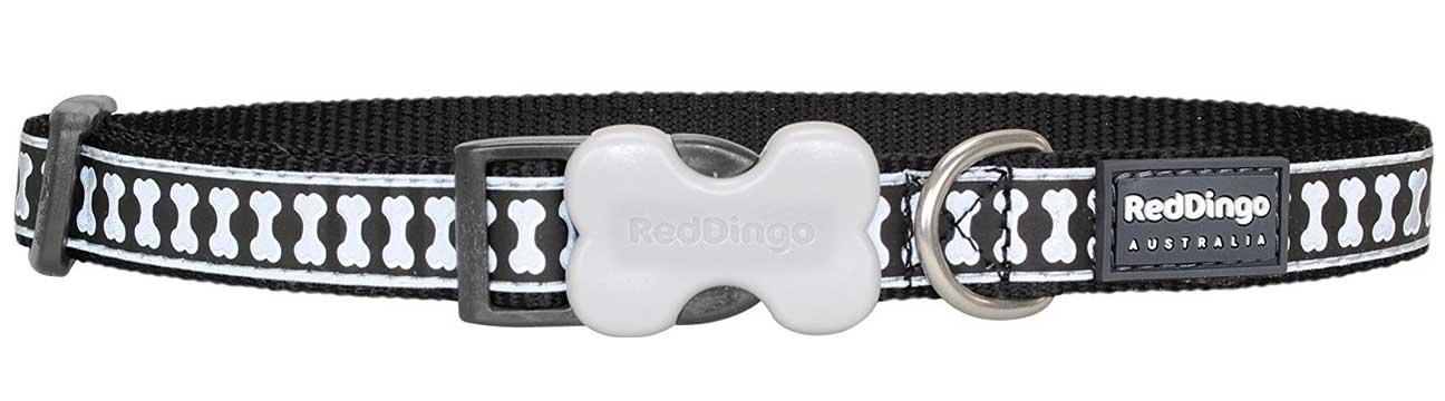 Reflexní obojek pro psa, černý