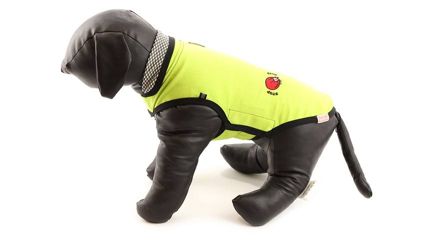 Pláštěnka pro psy i fenky s repelentem, žlutozelená