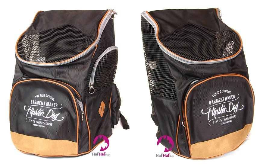 Luxusní černý batoh na psa BOBBY SAC PAC