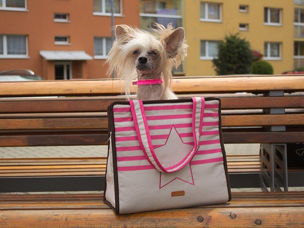 Taška pro psy BOBBY RIVIERA – růžová