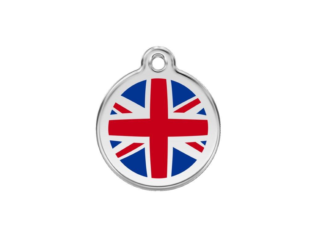 Známka pro psa RED DINGO malá, Anglie, s rytím