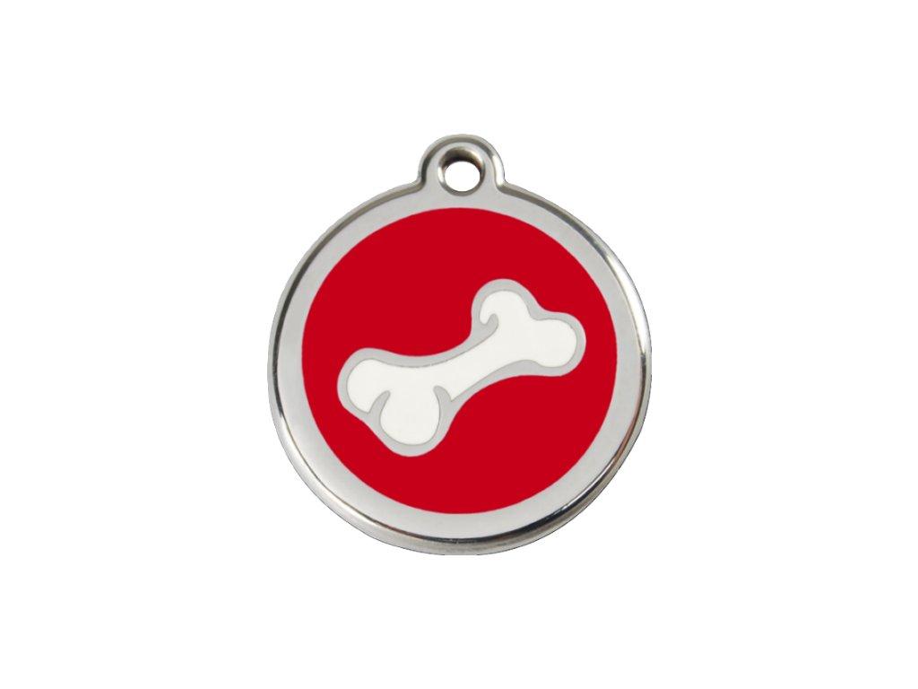 Známka pro psa RED DINGO malá, červená kost, s rytím