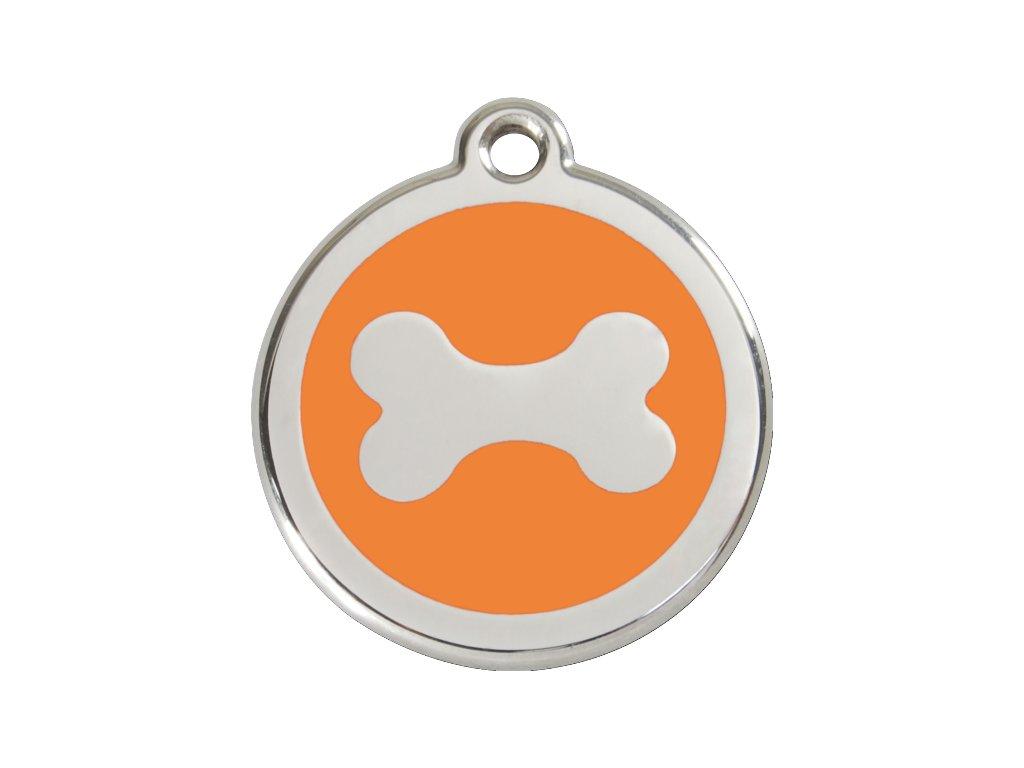 Známka velká – oranžová kost, srytím