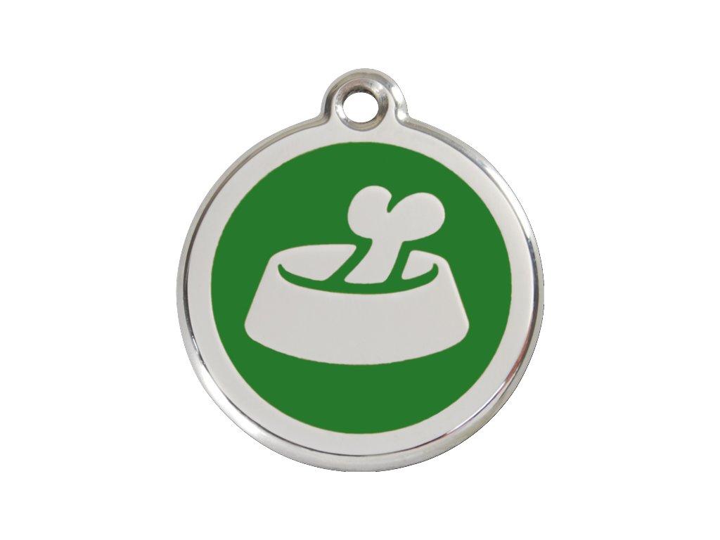 Známka velká – zelená miska, srytím