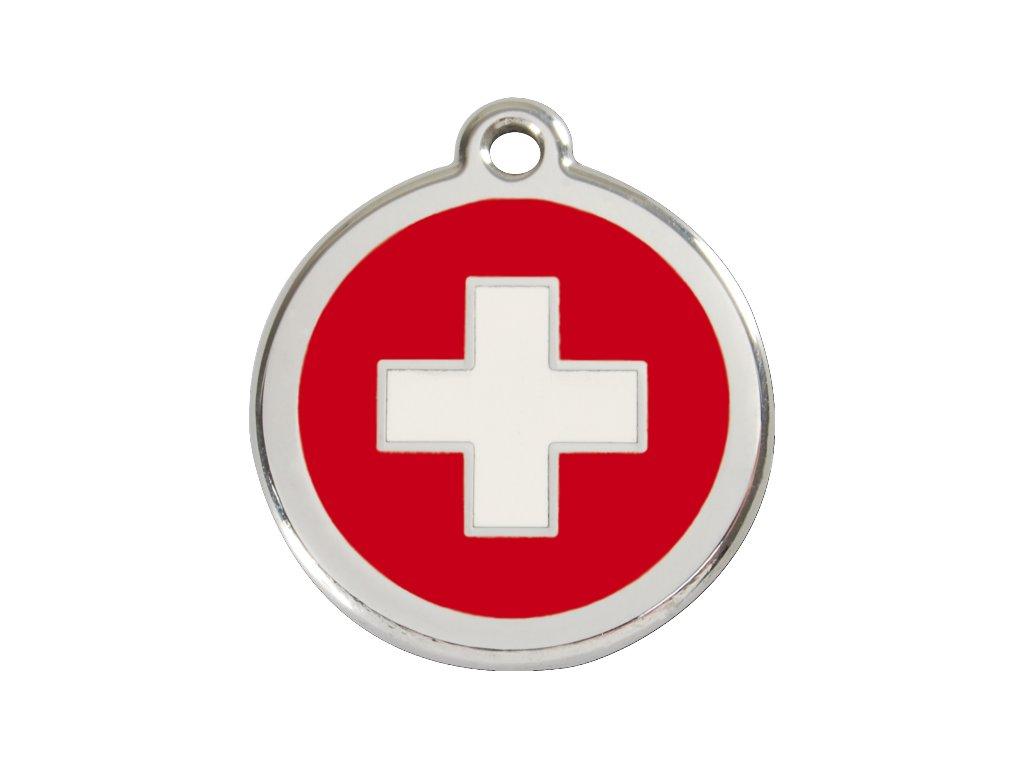 Známka velká – švýcarský kříž, srytím