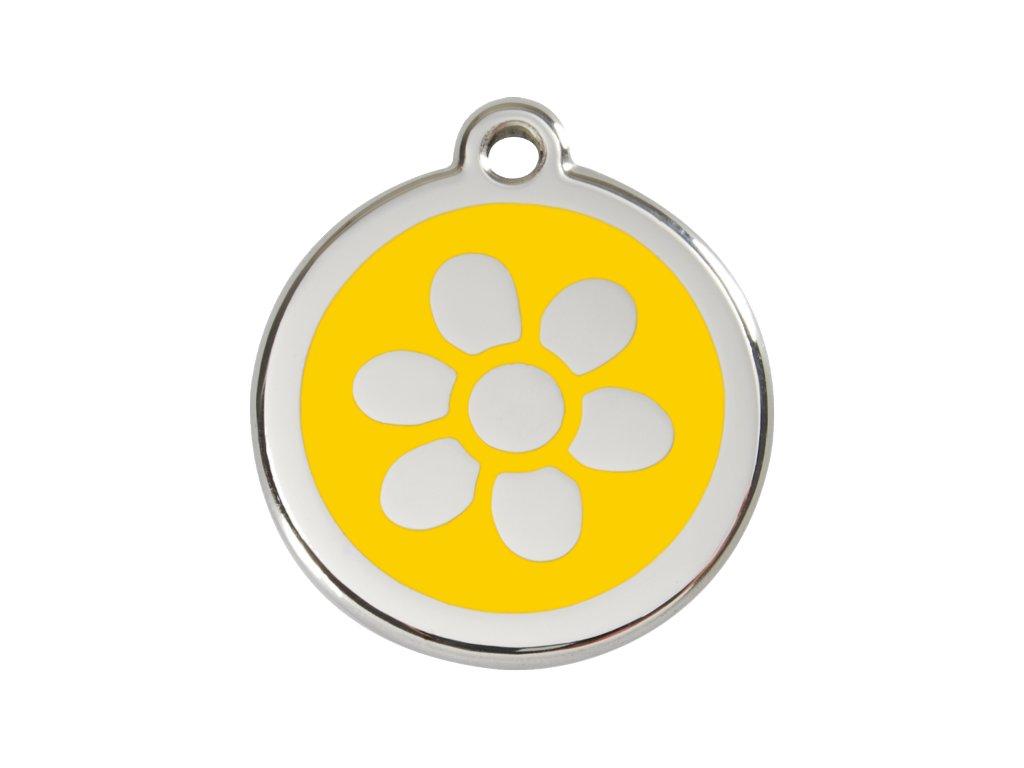 Známka velká – žlutá květina, srytím