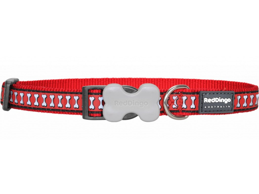 Červený reflexní obojek pro psy