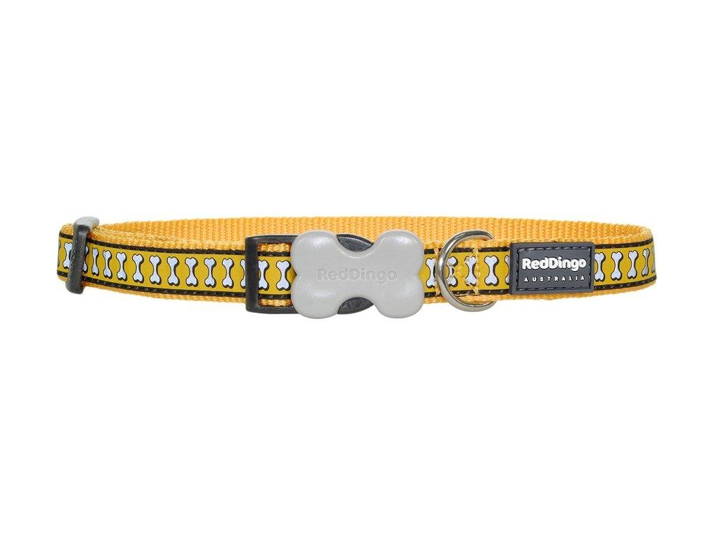 Žlutý reflexní obojek pro psy 41–63 cm