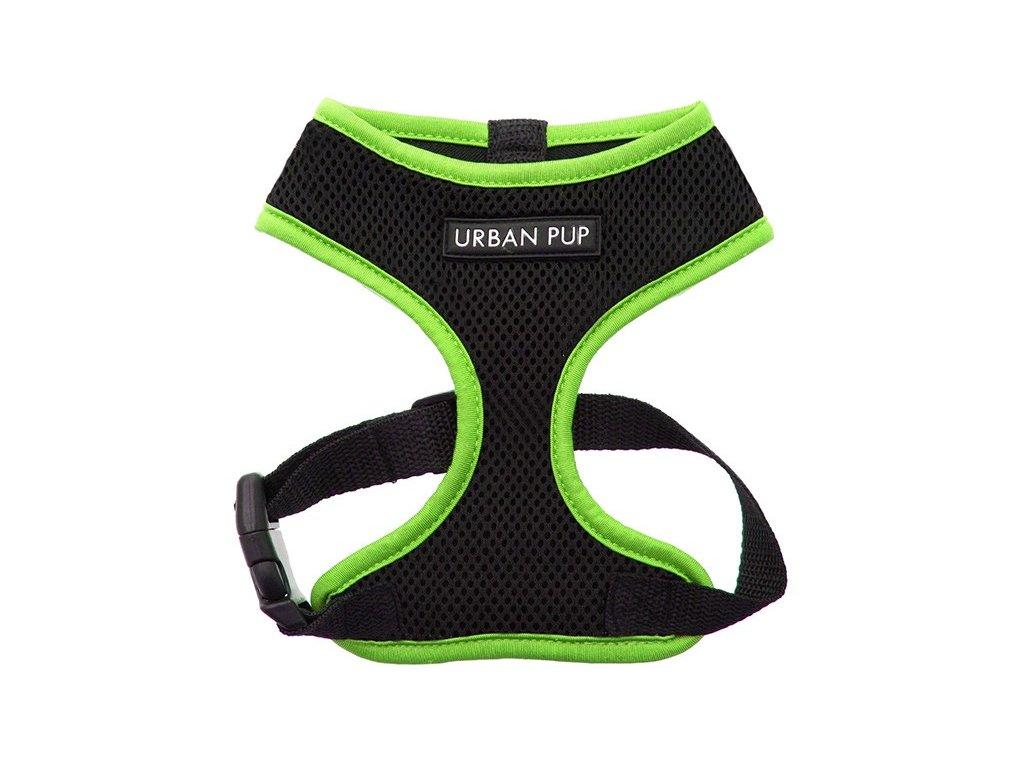 Hrudní postroj pro psy od URBAN PUP v neonově zelené barvě