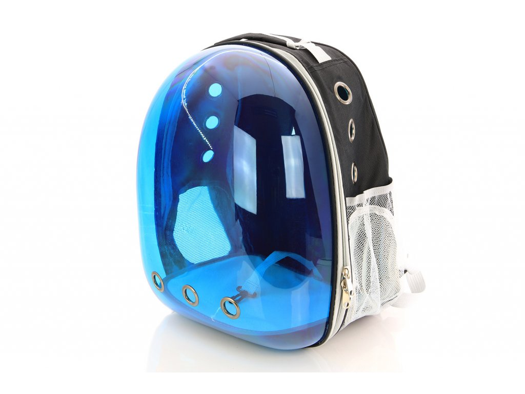 Průhledný batoh na psa do 4 kg NOBLEZA Modrý 2