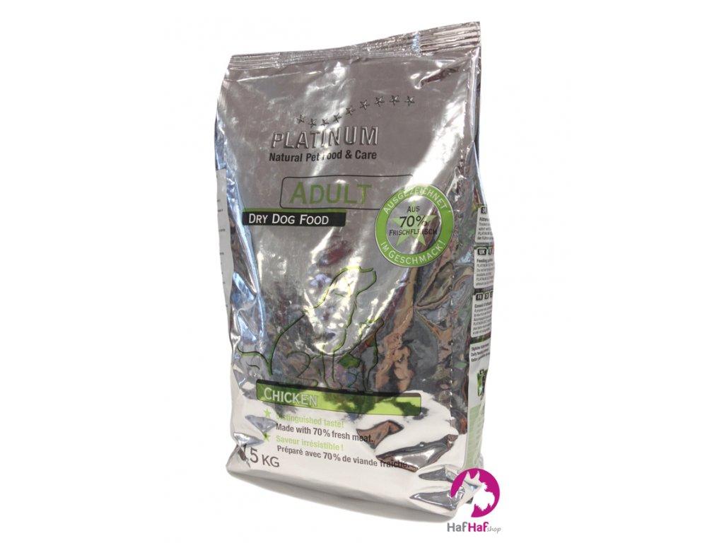 Granule pro psy PLATINUM ADULT CHICKEN 1,5 kg