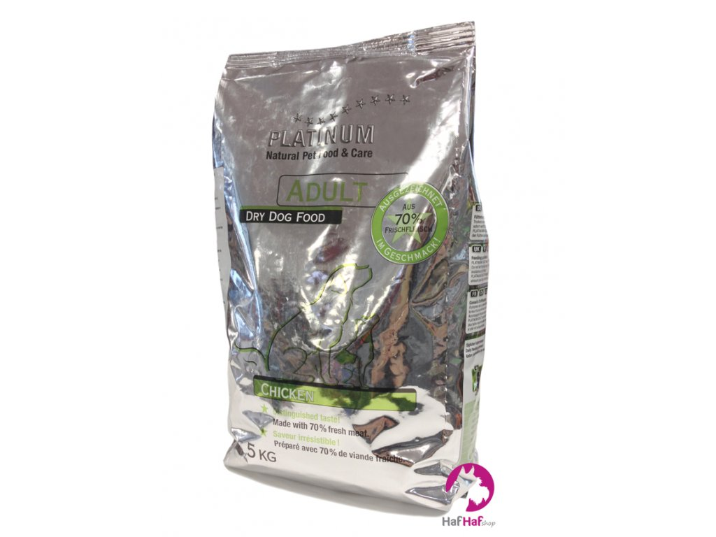 Granule pro psy PLATINUM ADULT CHICKEN 5,0 kg