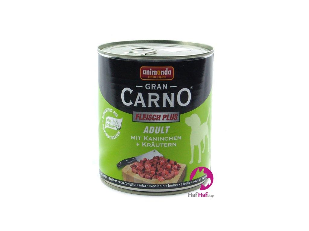 Kompletní krmivo pro psy Animonda 800 g, hovězí+králík s bylinkami