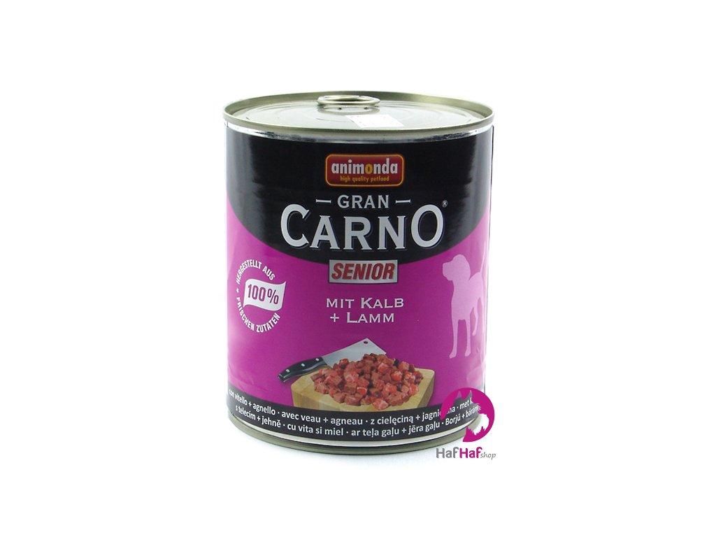 Kompletní krmivo pro starší psy Animonda 800 g, telecí a jehněčí