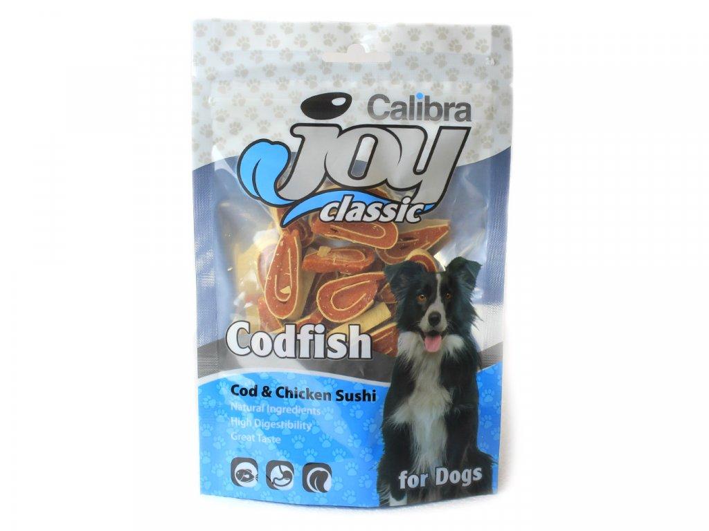 pamlsky pro psy calibra joy chicken and cod sushi