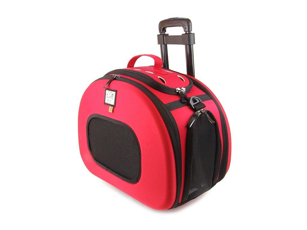 0b7f56e99a Prostorná taška na psy na kolečkách ve špičkovém provedení a designu BOBBY