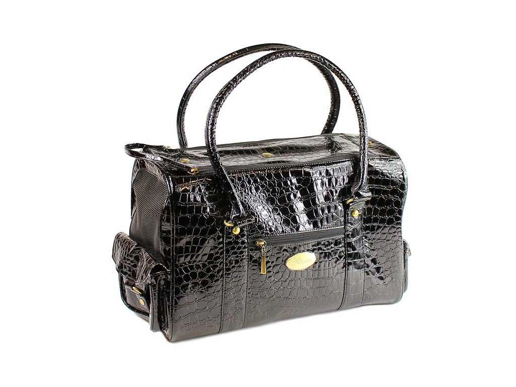 Luxusní taška pro psa z imitace hadí kůže