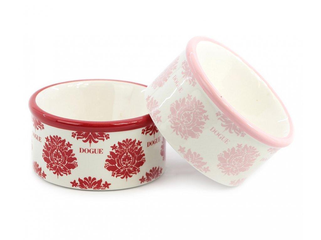 Nádherná keramická miska pro psy s květinovým designem. Velikost je ideální pro malá plemena psů.