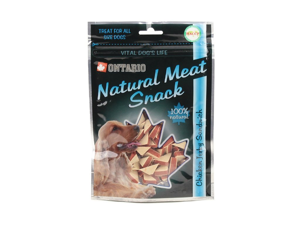 100% přírodní pochoutky pro psy, příchuť kuře s treskou