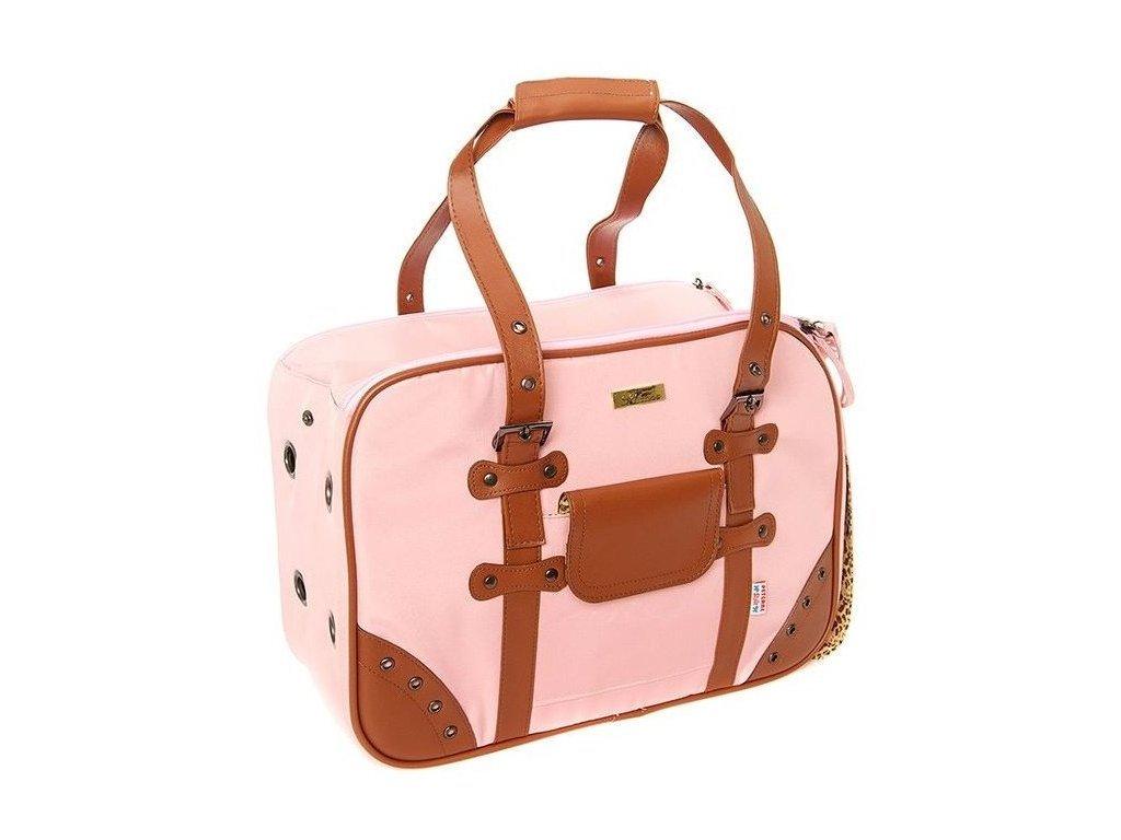Stylová růžová taška na psa