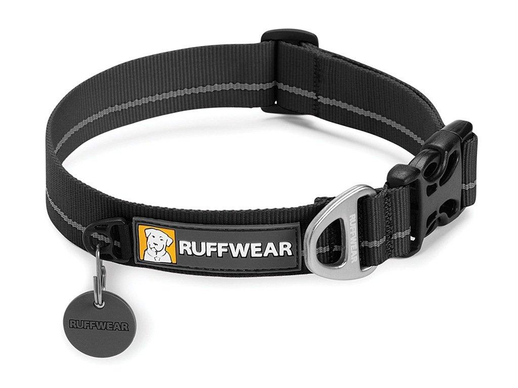 Stylový černý obojek pro psy z kolekce RUFFWEAR