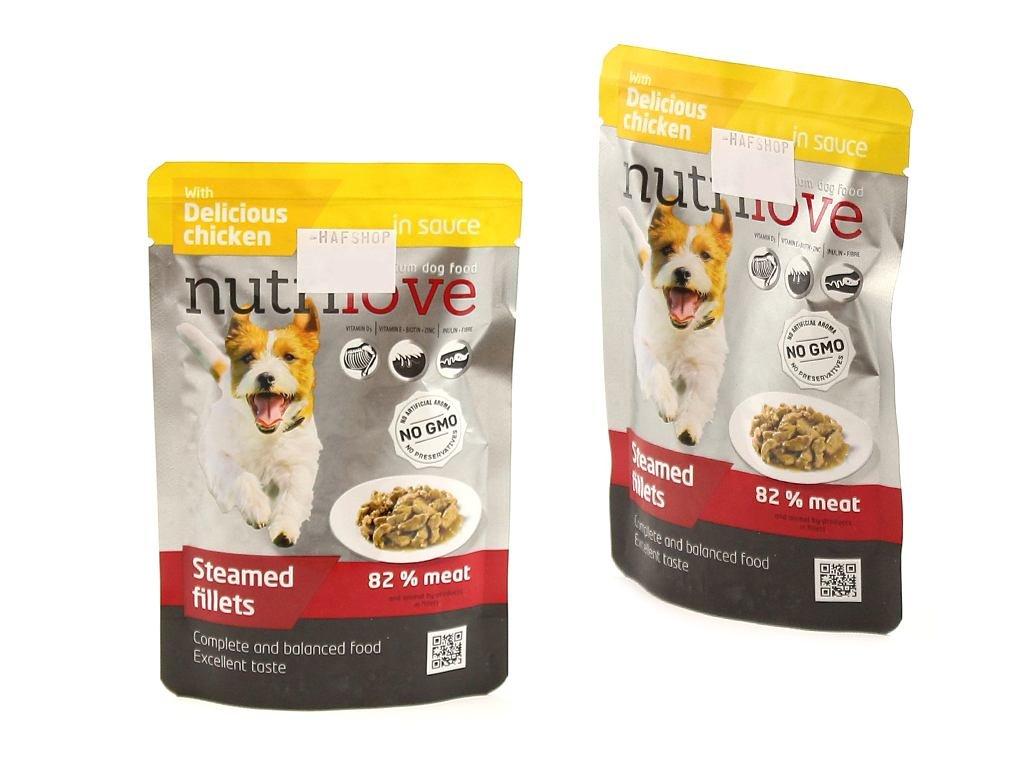 Kapsička pro psy – dušené filetky s delikátním kuřecím