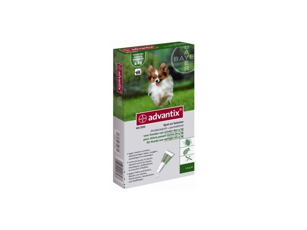 Advantix Spot On 1×0,4 ml – antiparazitikum pro malé psy do 4 kg