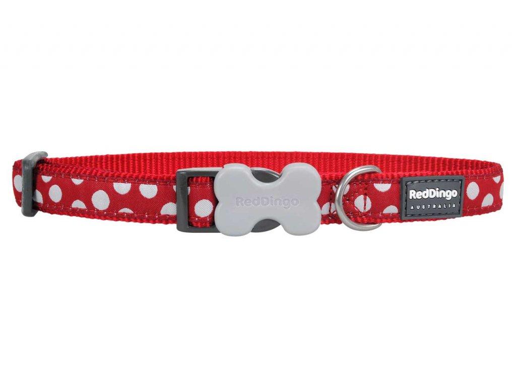 Obojek pro psa RED DINGO – White Spots Red